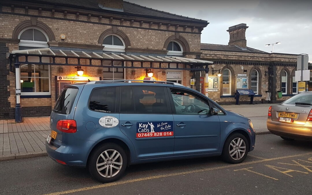 Kaycabs taxi outside Loughborough station