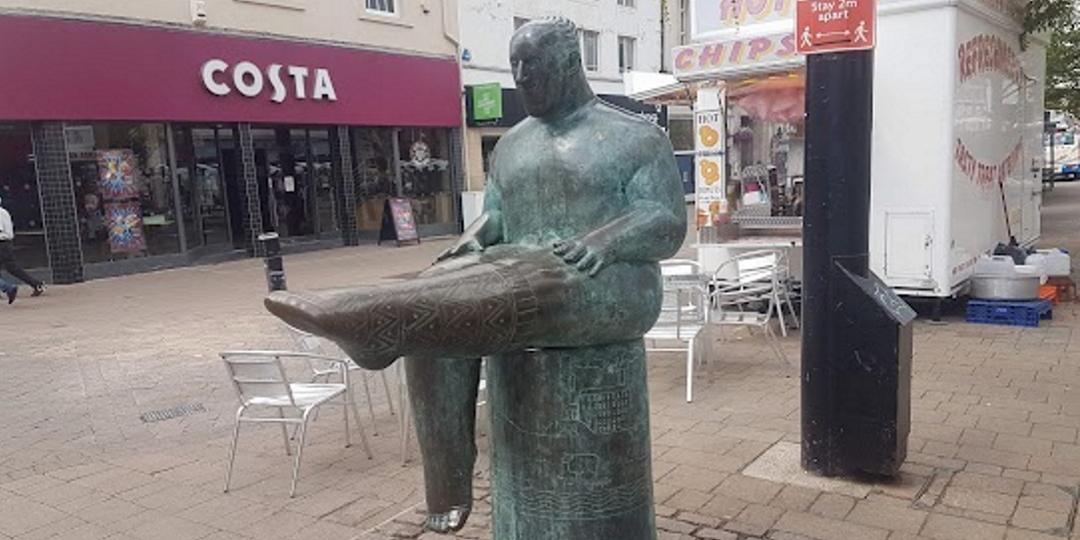 Loughborough The Sock Man Statue